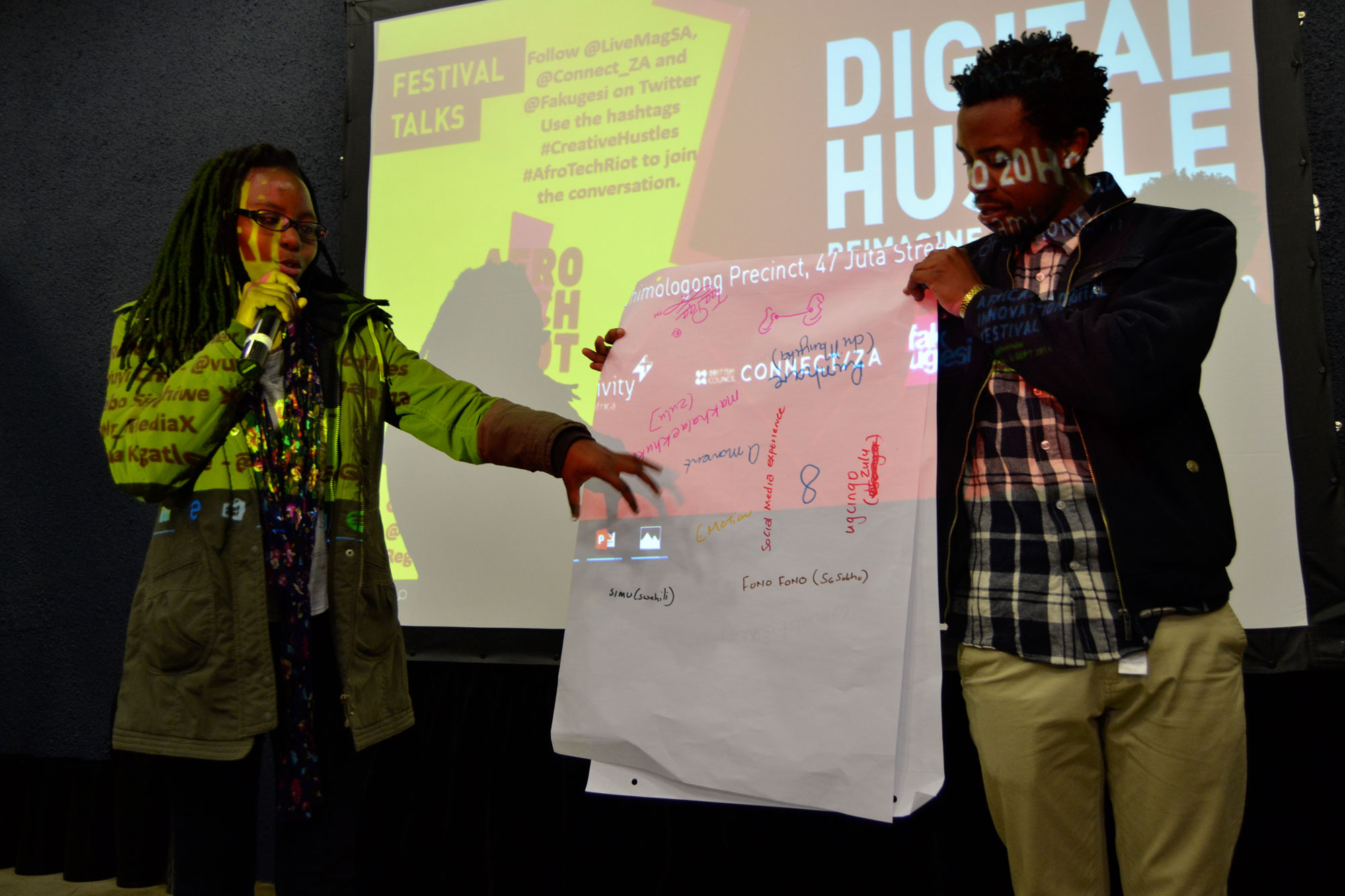 Digital Hustle participants presenting, 24th August 2016. Organised by Livity Africa and Connect ZA