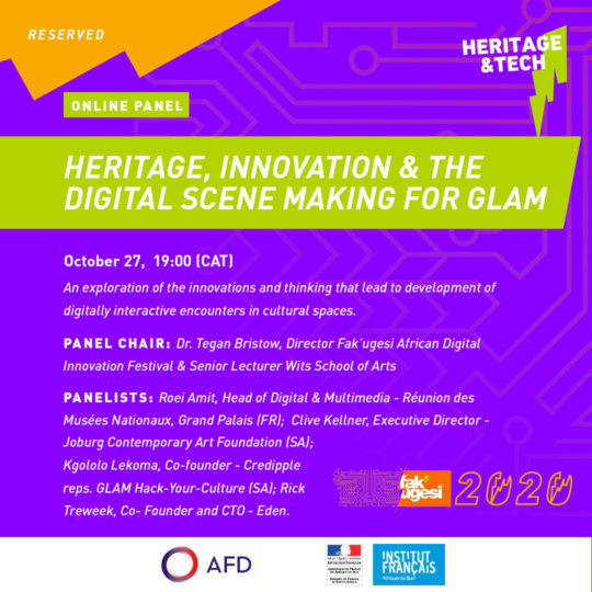 HERITAGE, INNOVATION & DIGITAL SCENE MAKING FOR GLAM