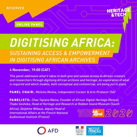 DIGITISING AFRICA: SUSTAINING ACCESS & EMPOWERMENT IN DIGITISING AFRICAN ARCHIVES