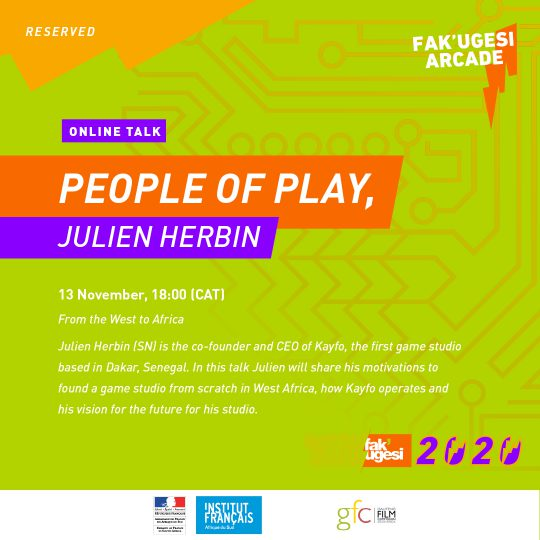PEOPLE OF PLAY, JULIEN HERBIN: From the West to Africa