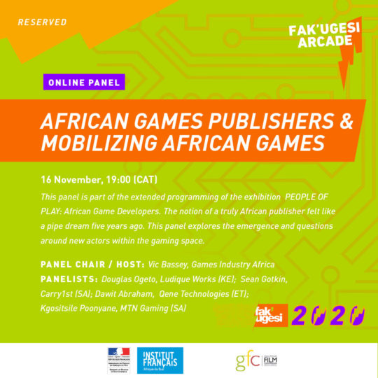AFRICAN GAMES PUBLISHERS & MOBILIZING AFRICAN GAMES