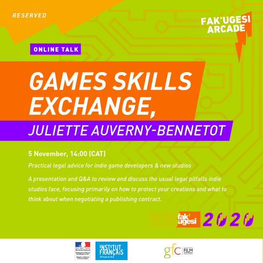 Games Skills Exchange, Juliette Auverny-Bennetot: Practical legal advice for indie game developers & new studios