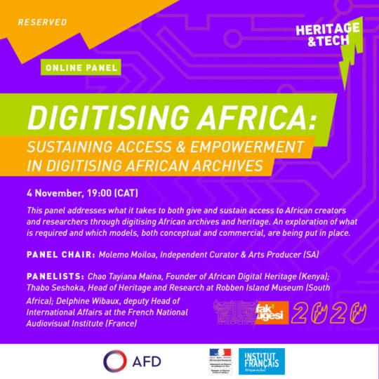 DIGITISING AFRICA: SUSTAINING ACCESS & EMPOWERMENT IN DIGITISING AFRICAN ARCHIVES