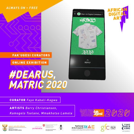 #DearUs, Matric 2020