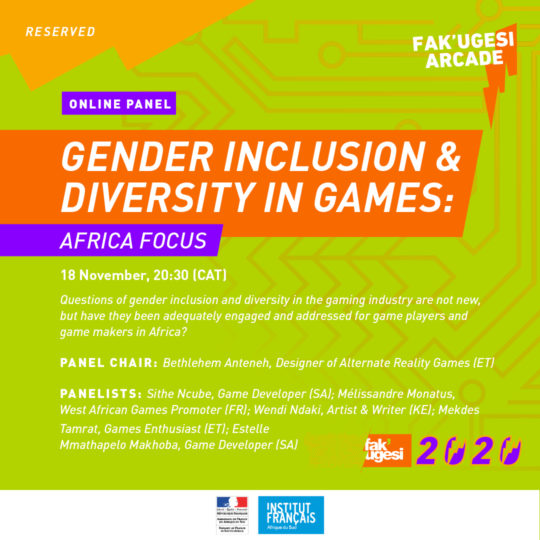 GENDER INCLUSION & DIVERSITY IN GAMES: AFRICA FOCUS