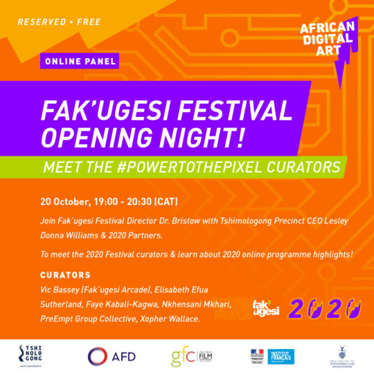 FAK'UGESI FESTIVAL OPENING NIGHT!  MEET THE #POWERTOTHEPIXEL CURATORS