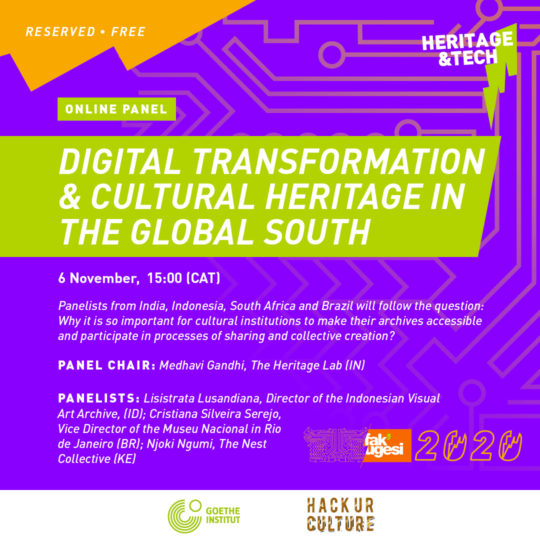 DIGITAL TRANSFORMATION & CULTURAL HERITAGE IN THE GLOBAL SOUTH
