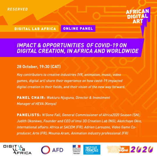 IMPACT & OPPORTUNITIES OF COVID-19 ON DIGITAL CREATION, IN AFRICA AND WORLDWIDE