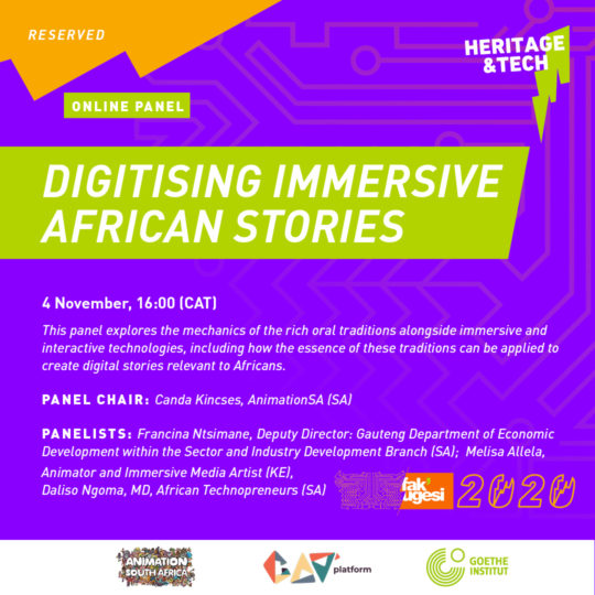 DIGITISING IMMERSIVE AFRICAN STORIES